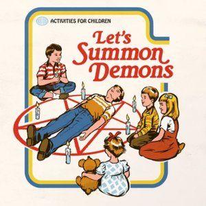 Steven Rhodes Halloween Queen Size Duvet Cover Summon Demons